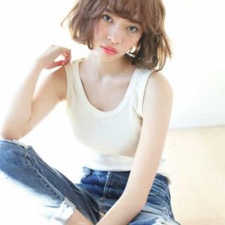 ストリート ボブ 外国人風カラー スモーキーアッシュ ヘアスタイルや髪型の写真・画像