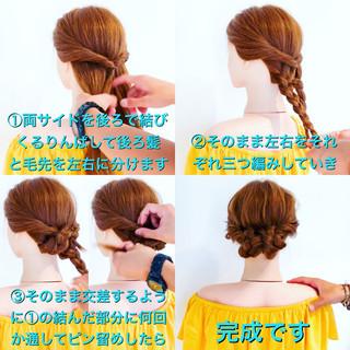 ショート ロング 上品 簡単ヘアアレンジ ヘアスタイルや髪型の写真・画像