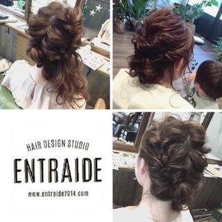 簡単ヘアアレンジ アンニュイほつれヘア セミロング 成人式 ヘアスタイルや髪型の写真・画像