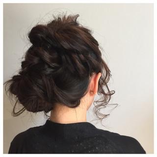 簡単ヘアアレンジ ナチュラル ヘアアレンジ ゆるふわ ヘアスタイルや髪型の写真・画像