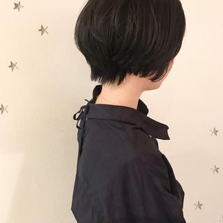 ナチュラル 暗髪 ショート 黒髪 ヘアスタイルや髪型の写真・画像 ヘアスタイルや髪型の写真・画像