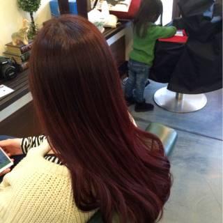 ピンク ストリート グラデーションカラー 暗髪 ヘアスタイルや髪型の写真・画像