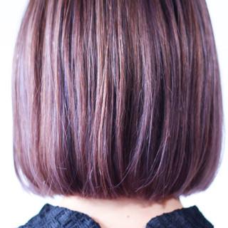 ミディアム パープルアッシュ パープル ラベンダーピンク ヘアスタイルや髪型の写真・画像