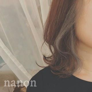 透明感 秋 インナーカラー フェミニン ヘアスタイルや髪型の写真・画像