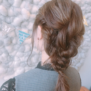 ロブ ミルクティーグレージュ ボブ ガーリー ヘアスタイルや髪型の写真・画像
