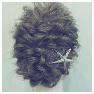 大人かわいい ロープ編み ゆるふわ ヘアアレンジ ヘアスタイルや髪型の写真・画像