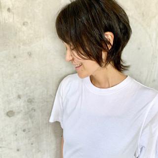 ショート モード ウルフカット ショートヘア ヘアスタイルや髪型の写真・画像