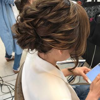 デート パーティ 結婚式 フェミニン ヘアスタイルや髪型の写真・画像