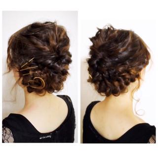 ショート 外国人風 簡単ヘアアレンジ セミロング ヘアスタイルや髪型の写真・画像