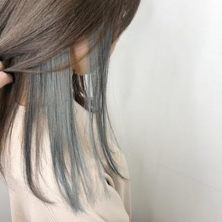 透明感カラー 外国人風カラー ミディアム インナーカラー ヘアスタイルや髪型の写真・画像