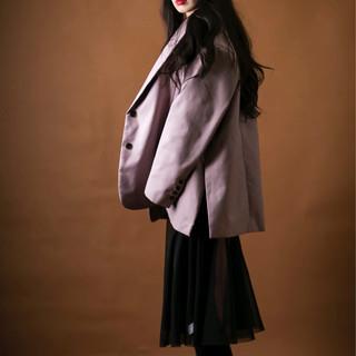 ロング 大人かわいい モード 黒髪 ヘアスタイルや髪型の写真・画像 ヘアスタイルや髪型の写真・画像