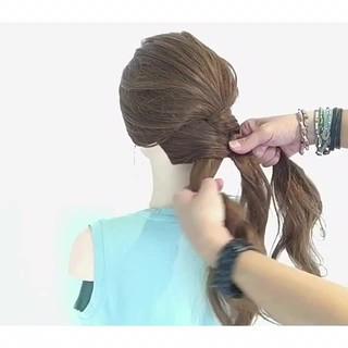ヘアアレンジ 色気 デート 夏 ヘアスタイルや髪型の写真・画像