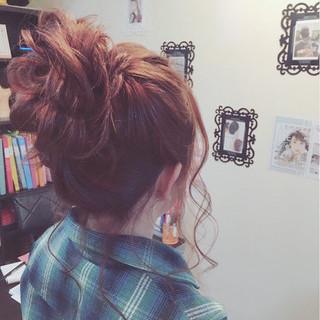 ガーリー ミディアム 大人女子 こなれ感 ヘアスタイルや髪型の写真・画像