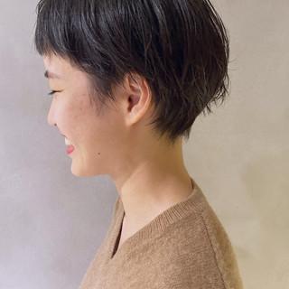 小顔ショート ショートバング ベリーショート ショートヘア ヘアスタイルや髪型の写真・画像