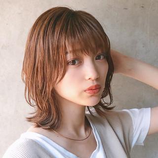 アンニュイほつれヘア デート ヘアアレンジ ミディアム ヘアスタイルや髪型の写真・画像