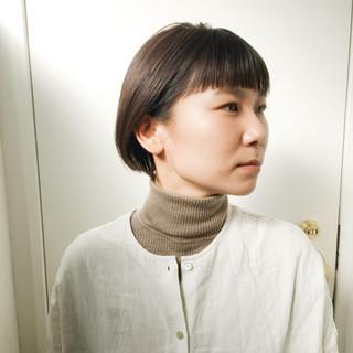 ナチュラル ショートボブ ショートヘア ベリーショート ヘアスタイルや髪型の写真・画像