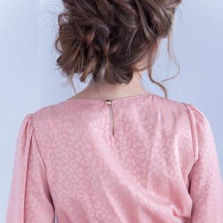 ショート ロング 簡単ヘアアレンジ フェミニン ヘアスタイルや髪型の写真・画像