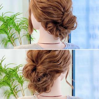 フェミニン ヘアアレンジ ヘアセット セルフヘアアレンジ ヘアスタイルや髪型の写真・画像