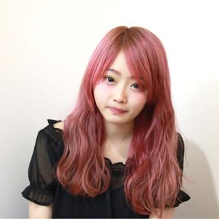 ヘアアレンジ グラデーションカラー ベージュ ピンク ヘアスタイルや髪型の写真・画像