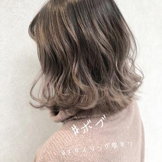 ミニボブ インナーカラー ヘアアレンジ ボブ ヘアスタイルや髪型の写真・画像
