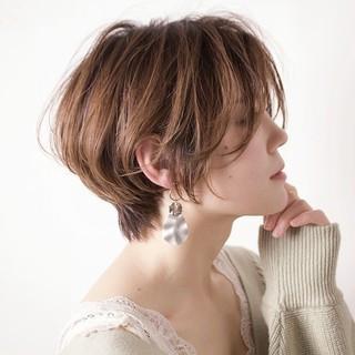 フェミニン ショートボブ ショート ヘアアレンジ ヘアスタイルや髪型の写真・画像 ヘアスタイルや髪型の写真・画像