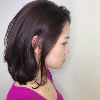 フェミニン ラベンダーピンク レッド ピンクアッシュ ヘアスタイルや髪型の写真・画像