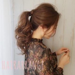 簡単ヘアアレンジ 結婚式ヘアアレンジ ナチュラル ロング ヘアスタイルや髪型の写真・画像 ヘアスタイルや髪型の写真・画像