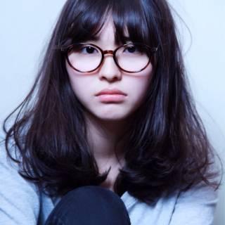 愛され 大人かわいい ミディアム 黒髪 ヘアスタイルや髪型の写真・画像