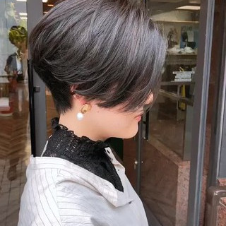 ショート ショートヘア ショートボブ 簡単スタイリング ヘアスタイルや髪型の写真・画像