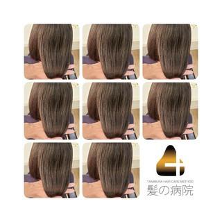 トリートメント ミディアム 頭皮ケア ナチュラル ヘアスタイルや髪型の写真・画像