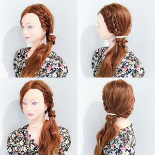涼しげ 夏 ヘアアレンジ エレガント ヘアスタイルや髪型の写真・画像