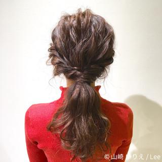 ショート 簡単ヘアアレンジ 冬 ロング ヘアスタイルや髪型の写真・画像