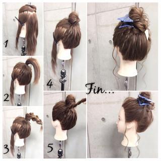 簡単ヘアアレンジ 大人女子 セミロング ヘアアレンジ ヘアスタイルや髪型の写真・画像