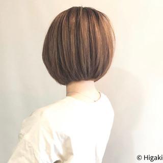 簡単スタイリング ショートボブ シンプル ボブ ヘアスタイルや髪型の写真・画像
