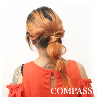 ストリート イエロー リラックス 色気 ヘアスタイルや髪型の写真・画像