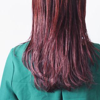 ラベンダーピンク ピンクアッシュ ラベンダーアッシュ ロング ヘアスタイルや髪型の写真・画像
