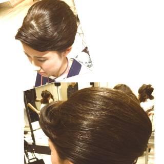 艶髪 ミディアム お祭り アップスタイル ヘアスタイルや髪型の写真・画像