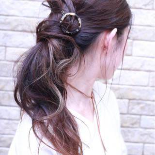 セミロング ショート ヘアアレンジ 大人女子 ヘアスタイルや髪型の写真・画像
