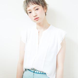 外国人風 簡単 透明感 ショート ヘアスタイルや髪型の写真・画像
