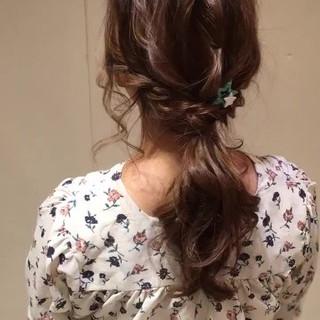 ヘアアレンジ ロング パーティ 結婚式 ヘアスタイルや髪型の写真・画像