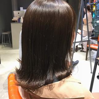ナチュラル ミルクティーアッシュ ミルクティー ミディアム ヘアスタイルや髪型の写真・画像
