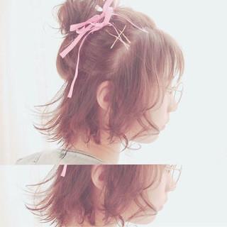 キュート かわいい 簡単ヘアアレンジ こなれ感 ヘアスタイルや髪型の写真・画像