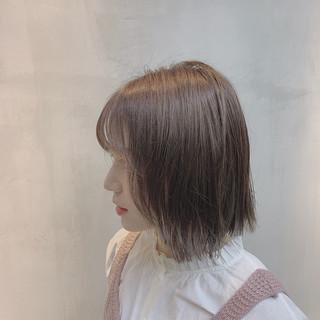 外国人風カラー ミルクベージュ グレージュ ナチュラル ヘアスタイルや髪型の写真・画像 ヘアスタイルや髪型の写真・画像