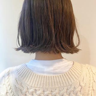 ミニボブ ナチュラル 切りっぱなしボブ ショート ヘアスタイルや髪型の写真・画像