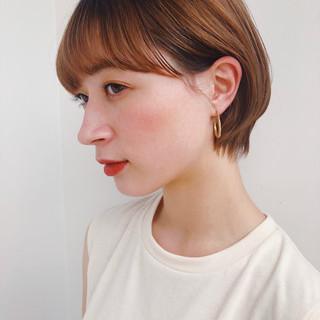 ショートボブ ミニボブ ナチュラル ショートカット ヘアスタイルや髪型の写真・画像