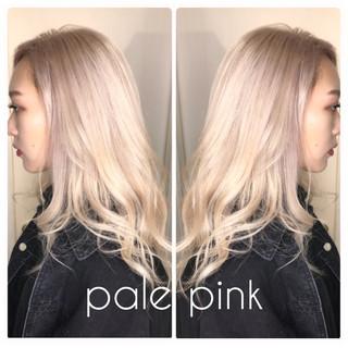 パープル ロング ピンク ピンクアッシュ ヘアスタイルや髪型の写真・画像