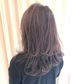 ラベンダーピンク グレージュ ラベンダーアッシュ ラベンダー ヘアスタイルや髪型の写真・画像