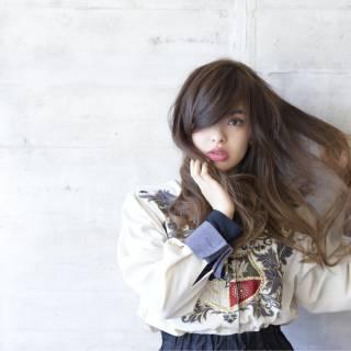 モード フェミニン ストリート 暗髪 ヘアスタイルや髪型の写真・画像