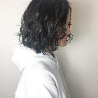 外ハネ 切りっぱなし アッシュ 外国人風 ヘアスタイルや髪型の写真・画像