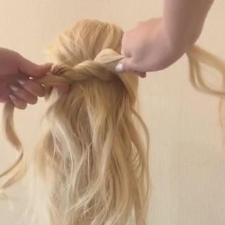 透明感 ヘアアレンジ 大人女子 ガーリー ヘアスタイルや髪型の写真・画像